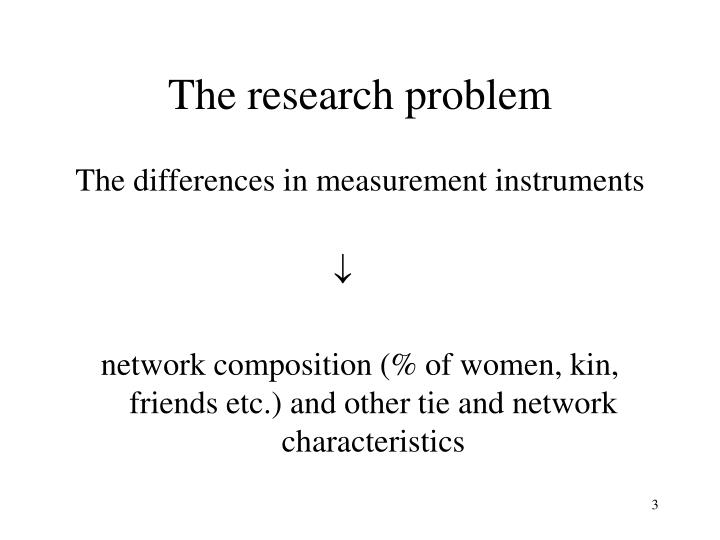 The research problem1