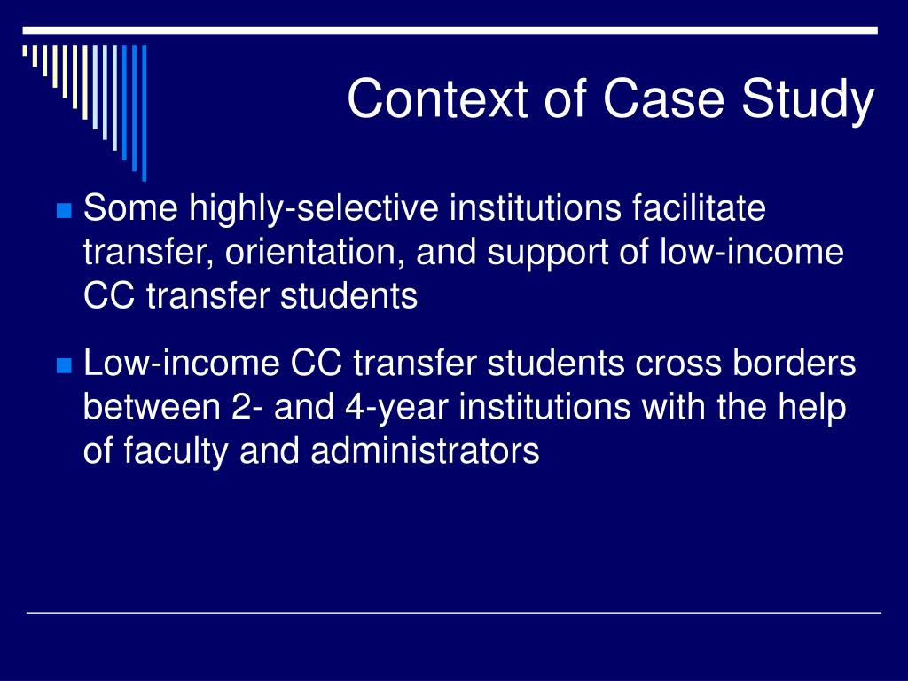 Context of Case Study