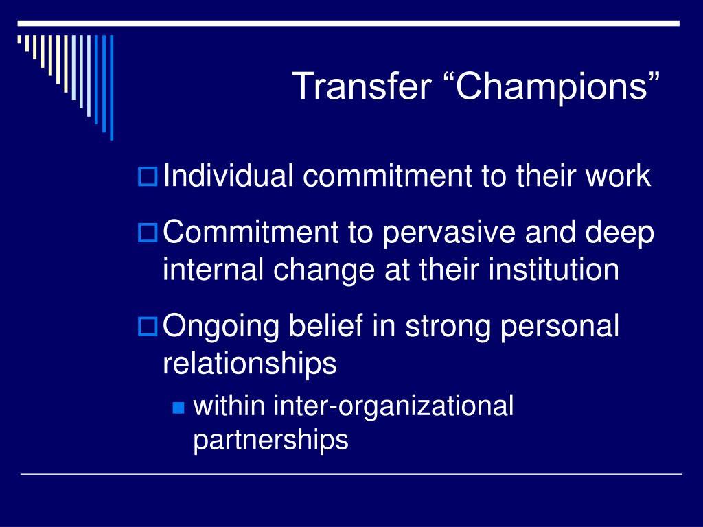 "Transfer ""Champions"""