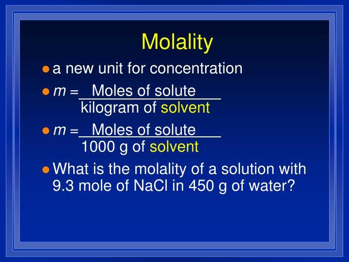 Molality