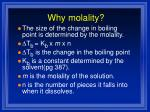 why molality