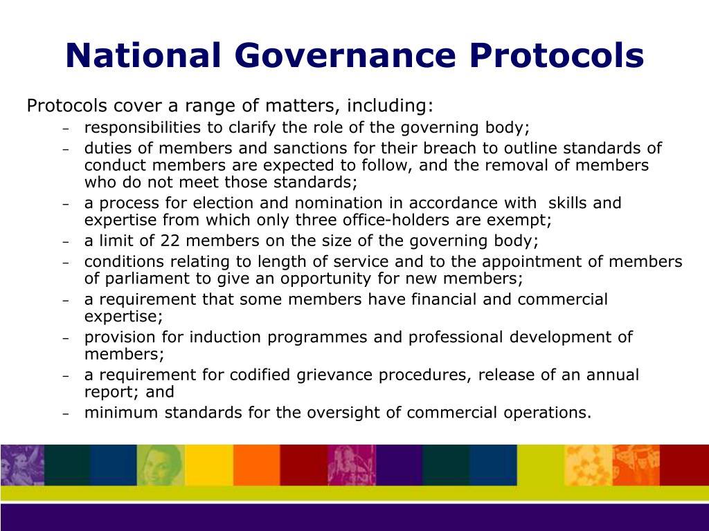 National Governance Protocols