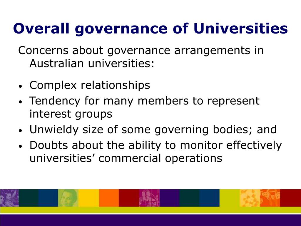 Overall governance of Universities
