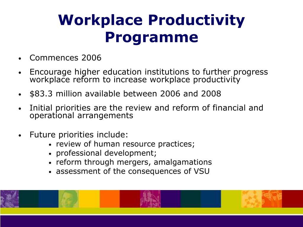 Workplace Productivity Programme