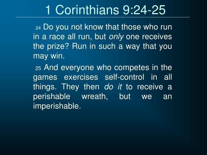 1 Corinthians 9:24-25