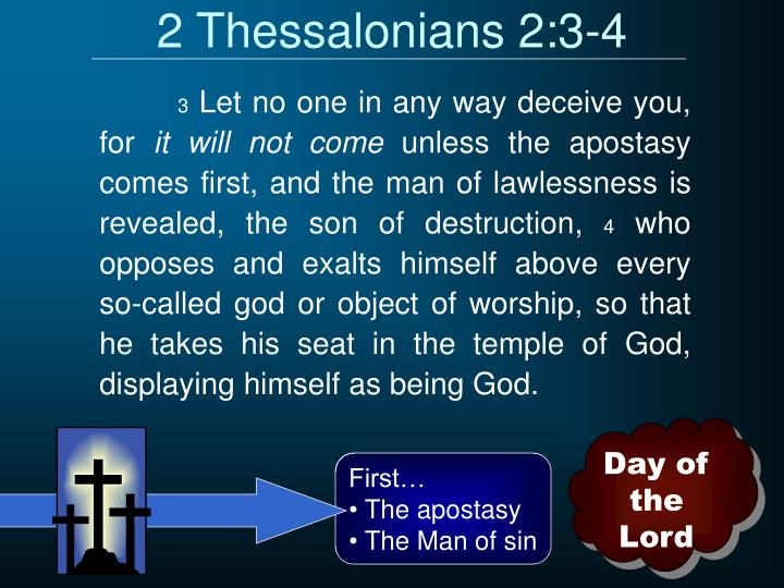 2 Thessalonians 2:3-4