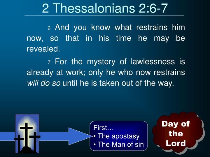 2 Thessalonians 2:6-7