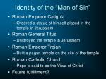 identity of the man of sin