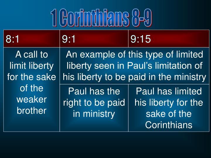 1 Corinthians 8-9