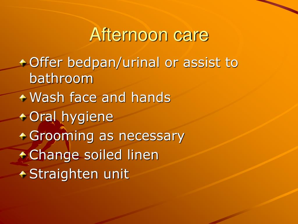 Afternoon care