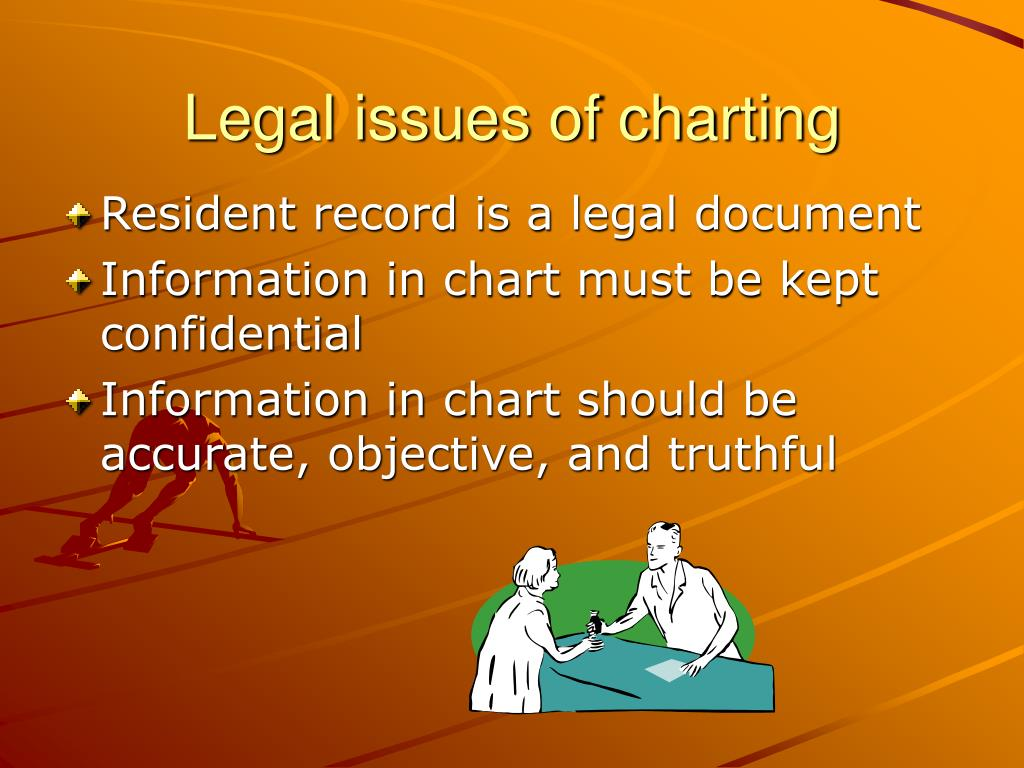 Legal issues of charting