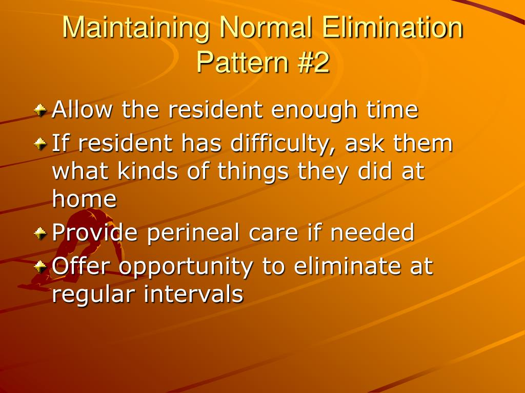 Maintaining Normal Elimination Pattern #2