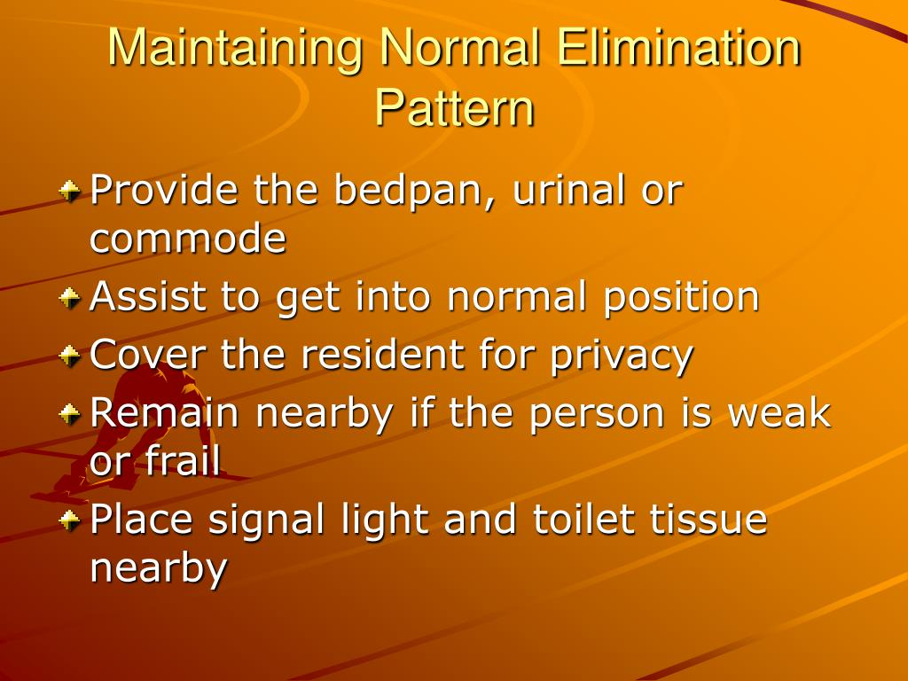 Maintaining Normal Elimination Pattern
