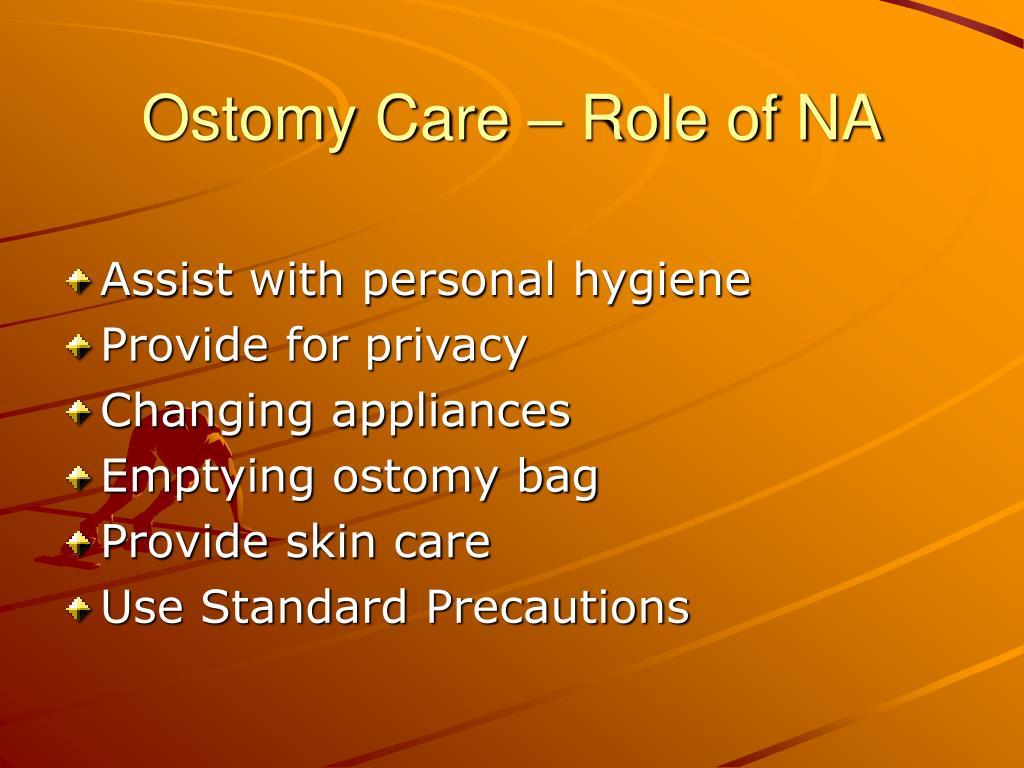 Ostomy Care – Role of NA