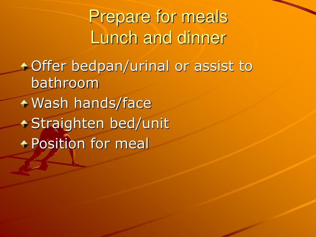 Prepare for meals