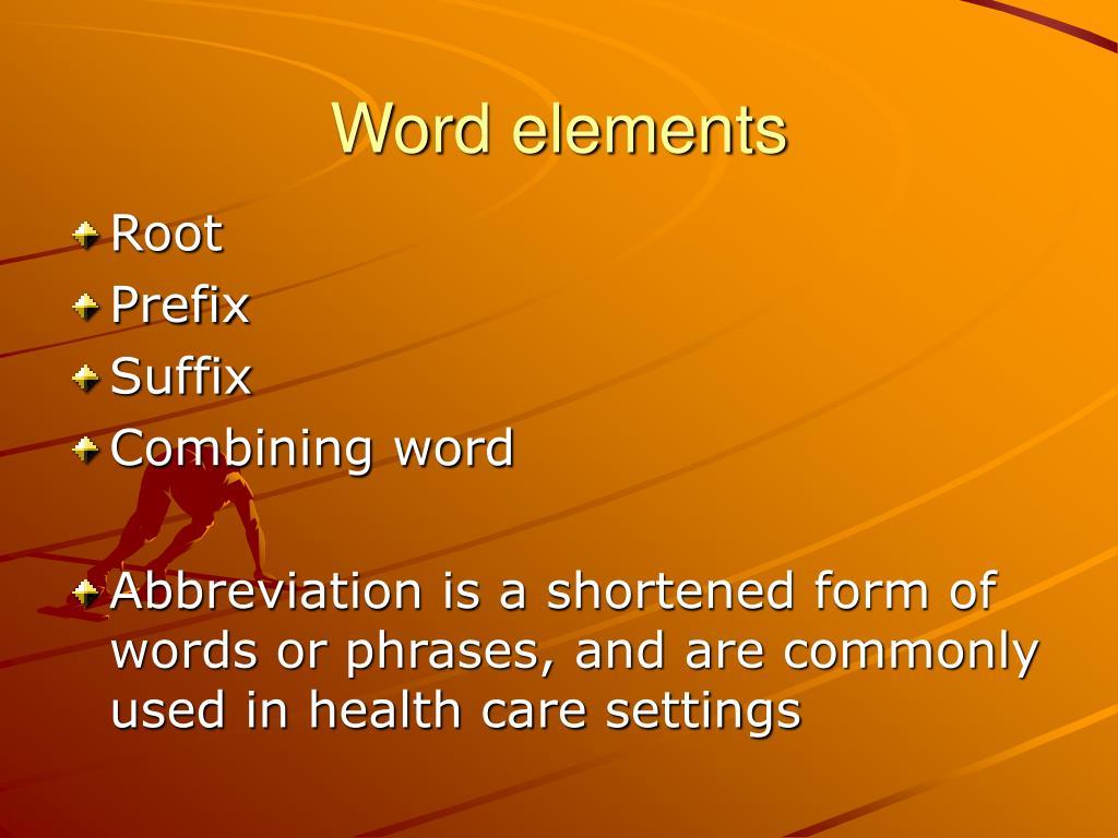 Word elements