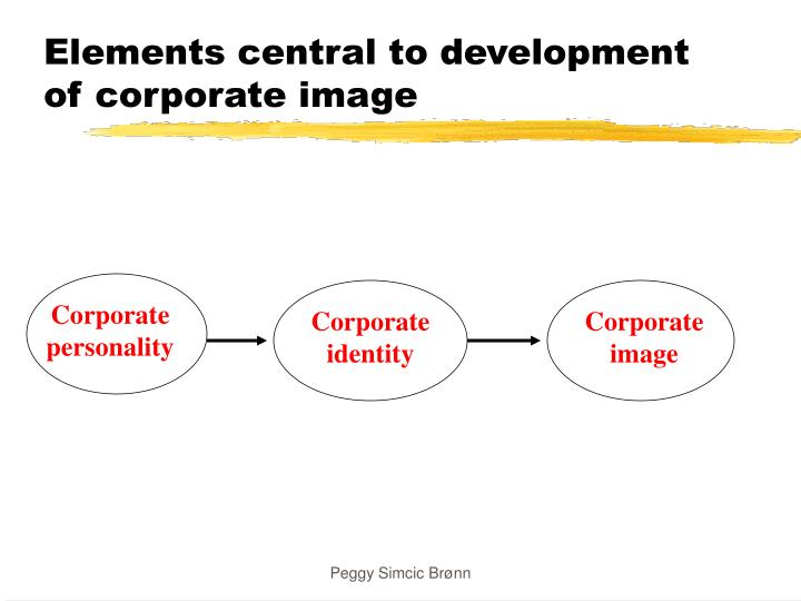 Elements central to development of corporate image