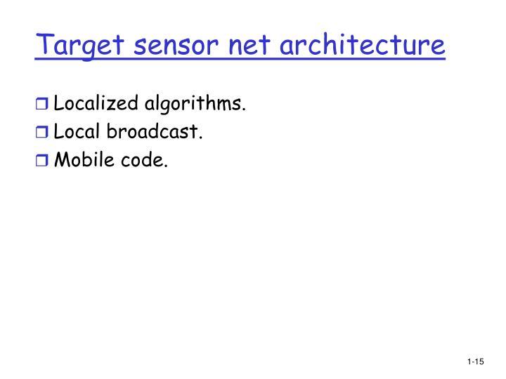 Target sensor net architecture