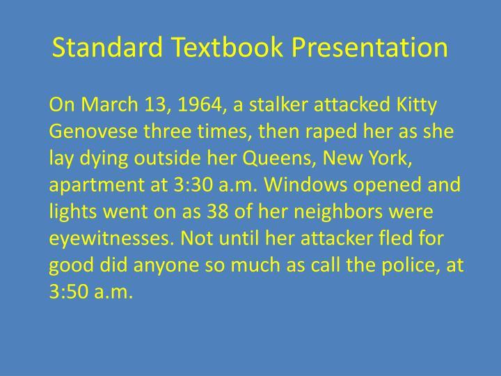 Standard Textbook Presentation