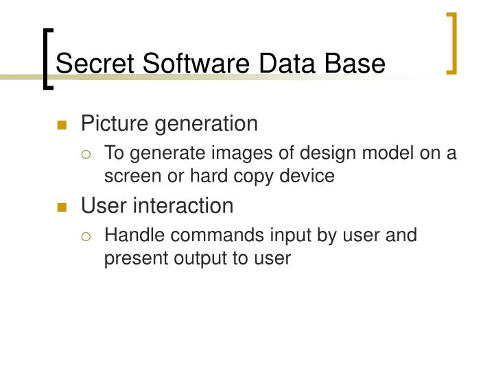 Secret Software Data Base