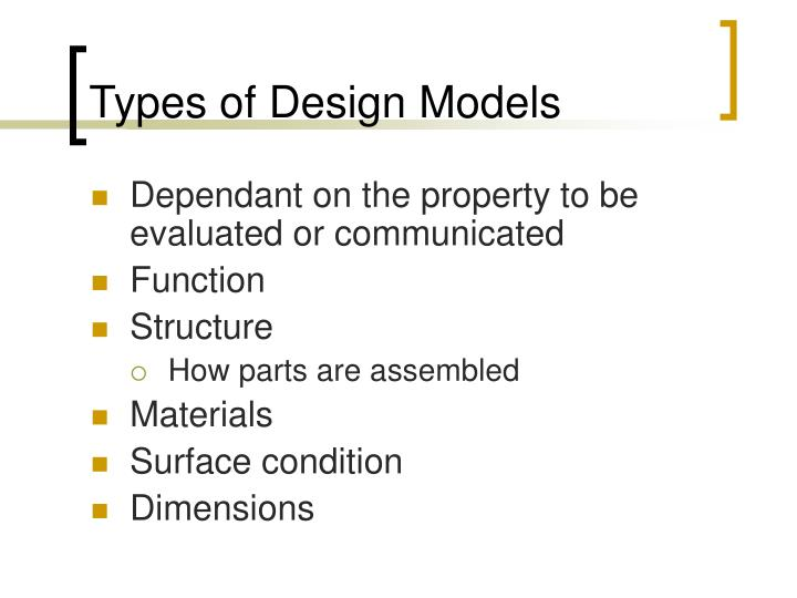 Types of Design Models