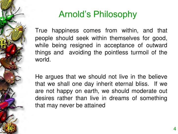 Arnold's Philosophy