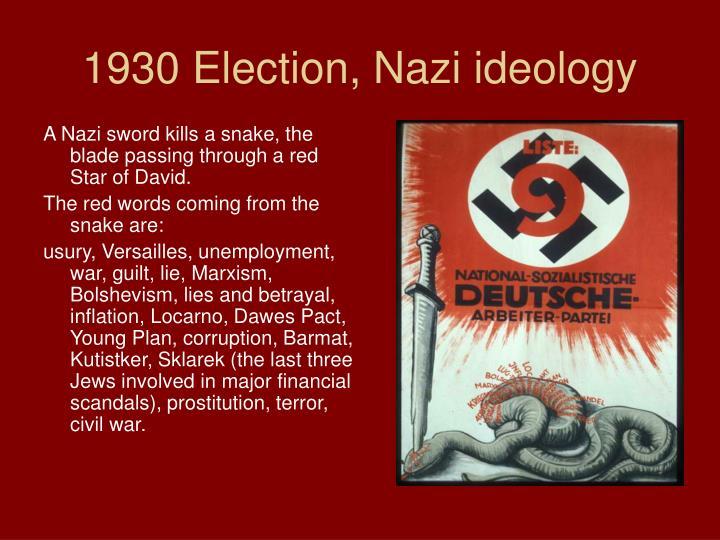 1930 Election, Nazi ideology