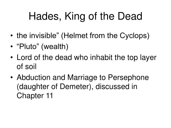 Hades, King of the Dead
