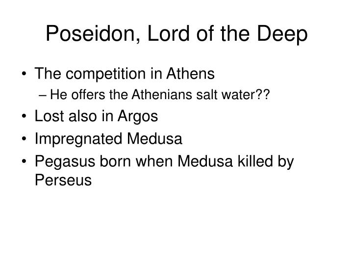 Poseidon, Lord of the Deep