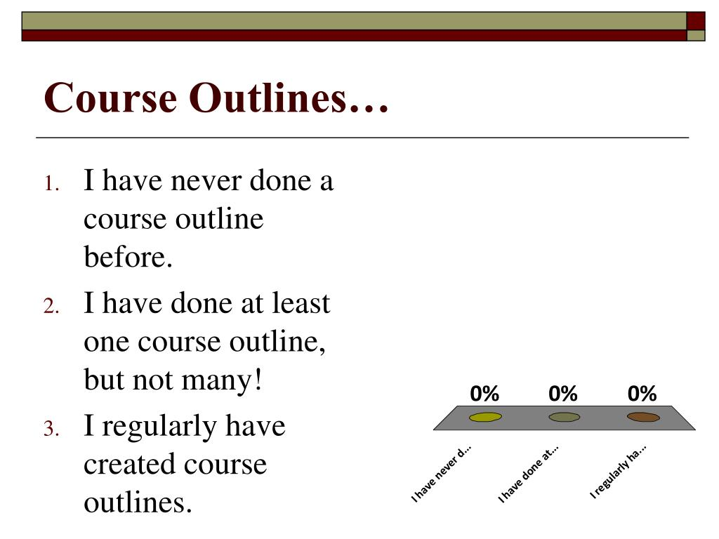 Course Outlines…