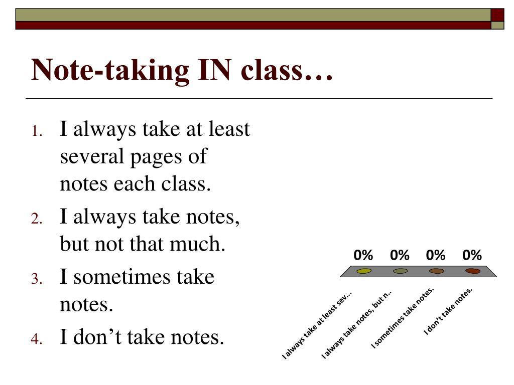 Note-taking IN class…