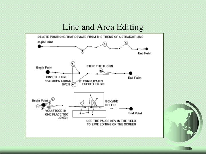 Line and Area Editing