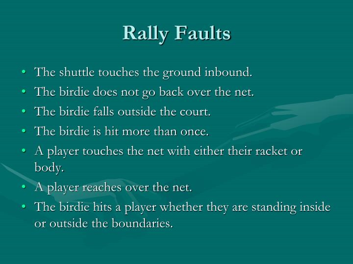 Rally Faults