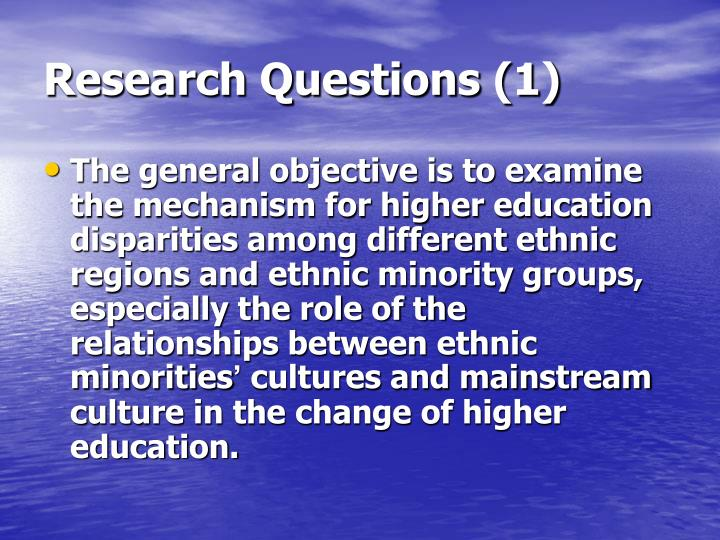 Research Questions (1)