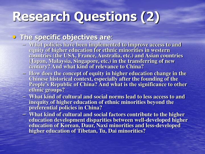 Research Questions (2)