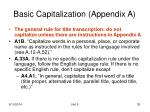 basic capitalization appendix a