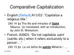 comparative capitalization