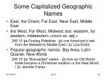 some capitalized geographic names