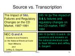 source vs transcription1