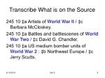 transcribe what is on the source