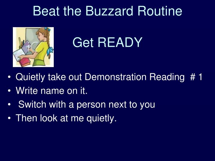 Beat the Buzzard Routine