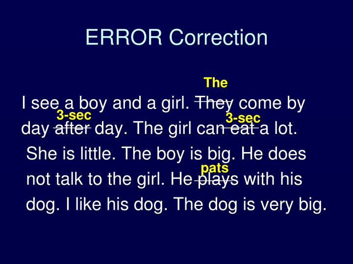 ERROR Correction
