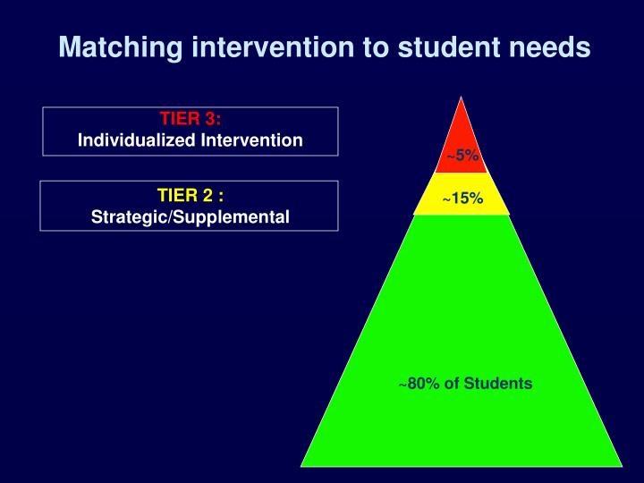 Matching intervention to student needs