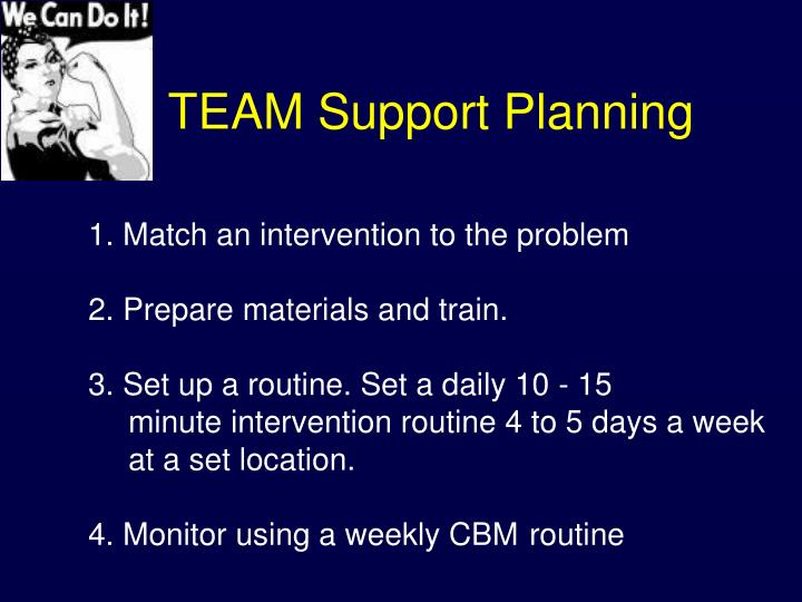 TEAM Support Planning