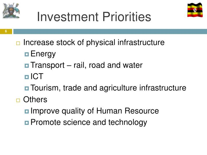 Investment Priorities