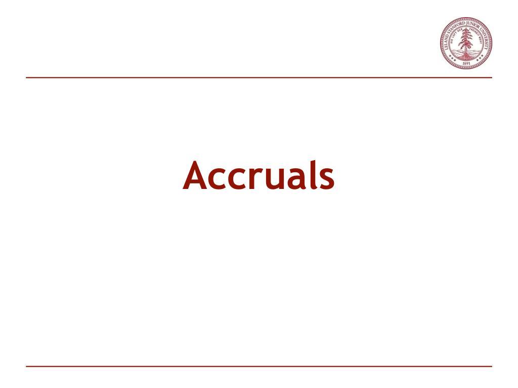 Accruals