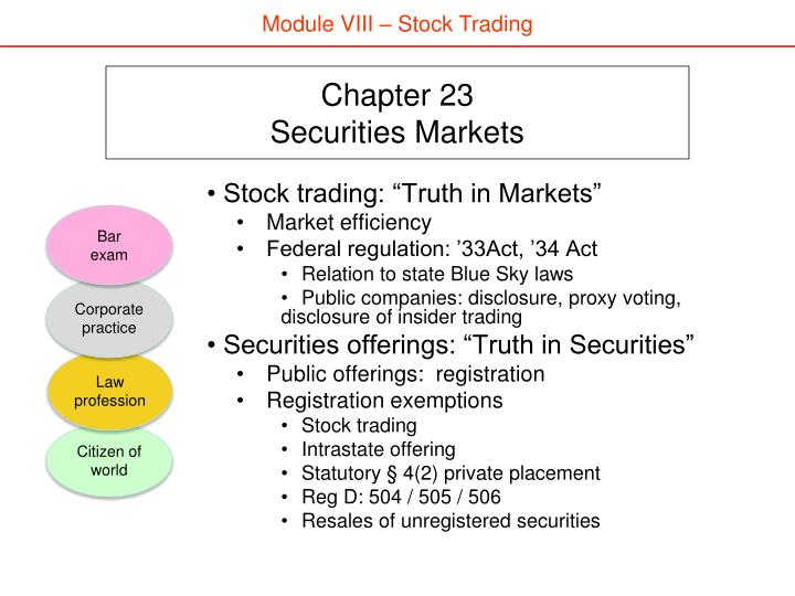 Chapter 23 securities markets