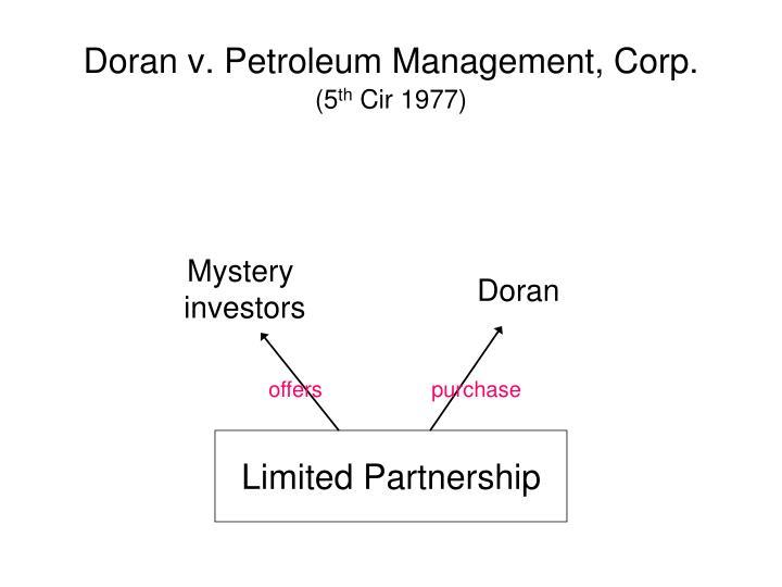 Doran v. Petroleum Management, Corp.