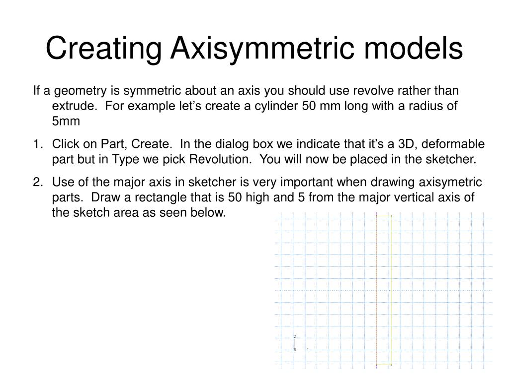 Creating Axisymmetric models