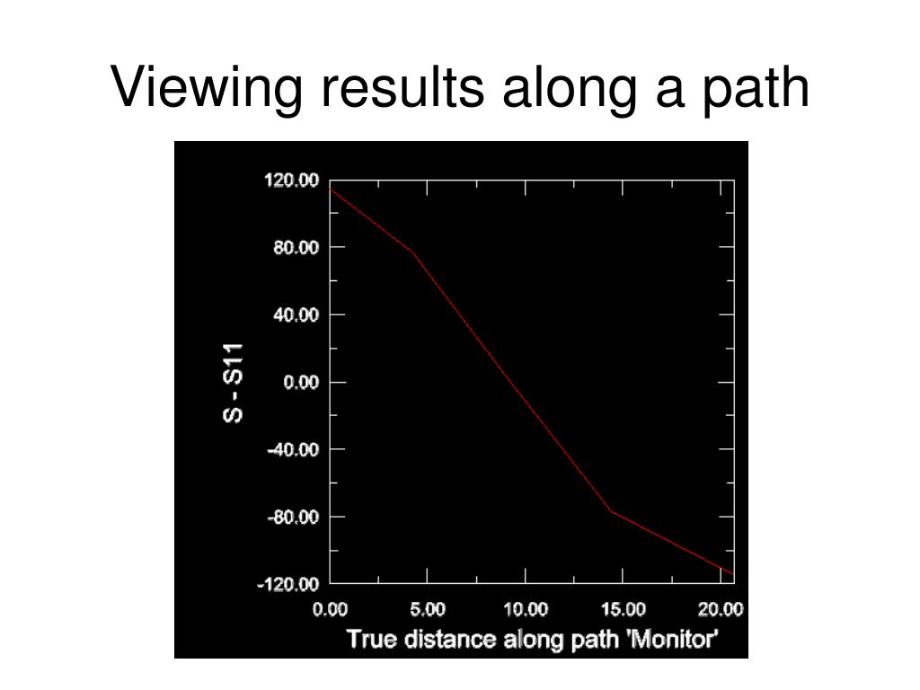 Viewing results along a path
